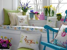 EASTER - Easter decoration craft ideas work Primroses daffodils hyacinth