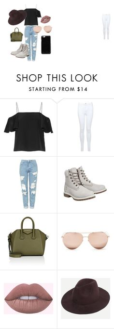 """Sin título #1"" by alexandraravl on Polyvore featuring moda, Fendi, Miss Selfridge, Topshop, Timberland, Givenchy, Linda Farrow y Maison Margiela"