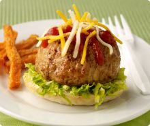 Volcano Burgers!   w/Jennie-O Extra Lean Ground Turkey.... I also use 7% lean ground beef!  So fun!