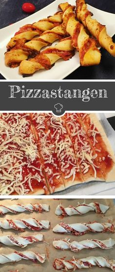 Leckere Pizzastangen Mehr #partysnacks