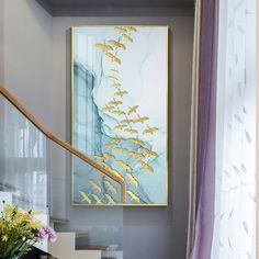 """""""Creative Watercolor blue Golden fish birds Modern Nordic decorative Picture Canvas Wall Art Poster for room Porch office decor"""" Canvas Home, Canvas Wall Art, Canvas Prints, Golden Fish, Nordic Art, Room Posters, Office Wall Decor, Canvas Pictures, Art Pages"""