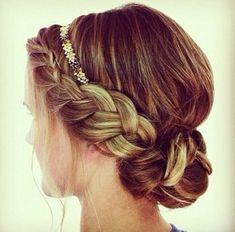 dutch braid lace braid in a bun