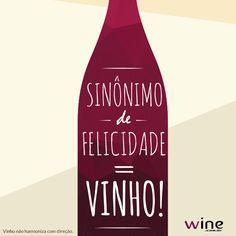 O vinho deixa a vida muito mais linda! #felicidade #vinho #wine