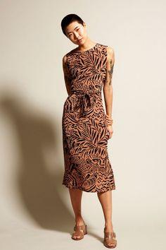 No.6 Mona Dress in Clay Safari