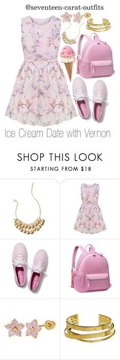 """Ice Cream Date with Vernon"" by seventeen-carat-outfits ❤ liked on Polyvore featuring Lilly Pulitzer, Keds and Elizabeth and James"