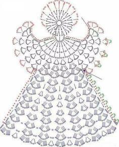 Схемы вязания ангелов крючкомВосхитительные и нежные рождественские ангелы связаны крючком. Вязаные ангелочки можно подарить близким на Рождество Христово или украсить ими интерьер гостиной.
