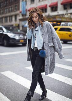 Fringe In – http://tsangtastic.com | Instagram @tsangtastic  Paige, Topshop, Vince, NYFW, New York Fashion Week, Fringe Jeans