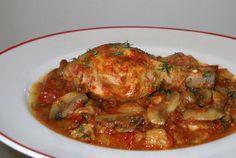 Retete Culinare - Tocanita de pui cu ciuperci