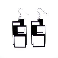 geometric square acrylic earrings by jen murse