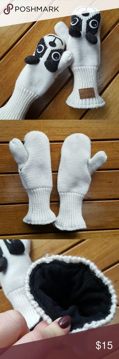 Panda Mittens MAKE ME AN OFFER OR BUNDLE!!  Super cute panda mittens  Very thick and warm  Stocking Stuffers idea!! Knitted Kaber Outerwear  Accessories Gloves & Mittens