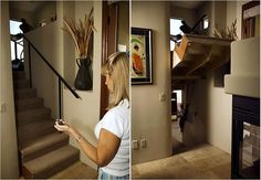 Consider a hidden room. | 31 Insanely Clever Remodeling Ideas For Your New Home.. Strange but cool idea