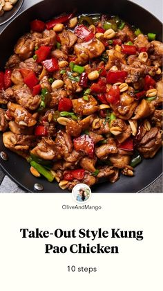 Take-Out Style Kung Pao Chicken by Olive Mango Lunch Recipes, Meat Recipes, Cooking Recipes, Healthy Recipes, Kung Pao Chicken Recipe Easy, Easy Chicken Recipes, Easy Chinese Recipes, Asian Recipes, Dinner Is Served
