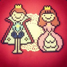 Prince and Princess perler beads by season322