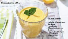 Rezept für einen Pfirsichsmoothie