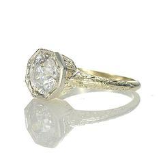 Leigh Jay Nacht Inc. - Antique Art Nouveau engagement ring - vr439-08