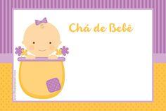 Convites para Chá de Bebê Grátis para impimir - Cantinho do blog