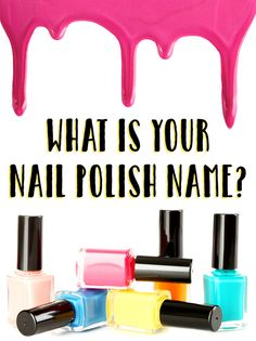 My nail polish name is Sunday Cupcake. Take this test and comment down below what your nail polish name is. Cute Nails, Pretty Nails, Hair And Nails, My Nails, Polish Names, What Is Your Name, Cool Nail Designs, Nails On Fleek, Long Nails