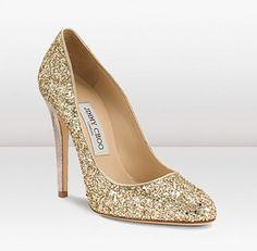 Sapatos de Noiva 2015 dourado jimmy shoo