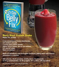 Berry Blast Protein Shake from The 21-Day Belly Fix