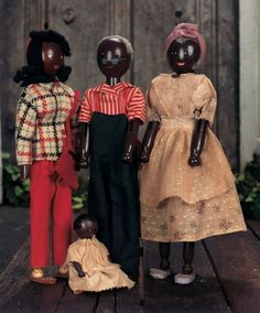 The Pup in the Ruffled Cap, The Boy in Papa's Shoe: 79 Four American Wooden Pinn Family Dolls by Schoenhut