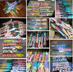 Colorful Fence Fish - Made from Reclaimed Fence Pickets