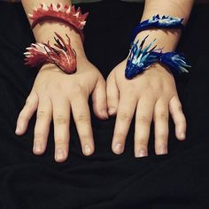 Kimber used Plastimake to create a pair of dragon bracelets. We're loving this unique sculpting style. You'll find many more interesting projects on Kimber's Instagram: https://instagram.com/monster_of_the_mind/