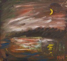 Mauno Markkula: Kuu. öljy, 30x34 cm - Hagelstam A137