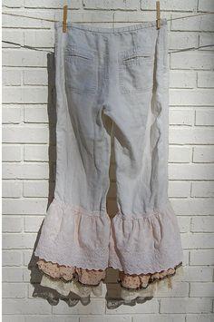 Boho Linen Pants Bloomers Pantaloon Victorian by PrimitiveFringe