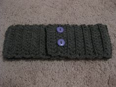 Ear Warmer Headband with Buttons! Customizable! $15 on Etsy