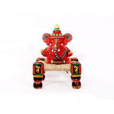 Name : Earthen Ganeshji with Manji Price : Rs 949 Buy Now at : http://www.indikala.com/new-additions/earthen-ganeshji-with-manji.html #Antiques #Idols #Figurines #Decor