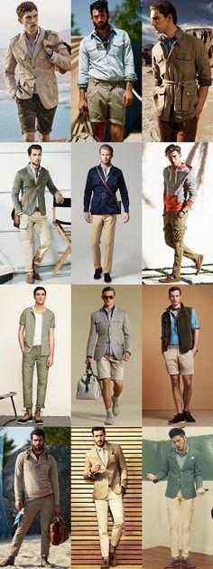 Style Inspiration: Modern Safari - Slimline Cargo Pants or Short Suit Legwear Lookbook Inspiration