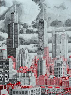 CHICAGO, IL :: The Happiness Machine - The Detailed Drawings of Mark Lascelles Thornton