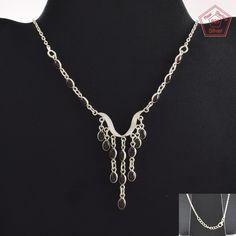 Garnet Stone Beautiful Design 925 Sterling Silver Jewelry Necklace NK2953…