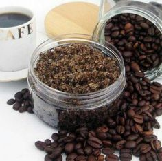 Ingredients 4 tablespoons of ground coffee (fresh is the best) 3 tablespoons of corn meal (or ground oatmeal) 3 tablespoons of sea salt or Epsom salt 3 tablespoons of Olive or Almond oil 2 drops of...