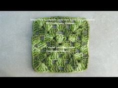 Crochê para iniciantes  QUADRADO SIMPLES #crochet #aprendercroche
