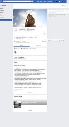 Screenshot: (4) Kuusijärven Katselmusleiri Find Friends, Facebook Photos, Event Calendar, December, Birthdays, Training, Cover, Anniversaries, Birthday