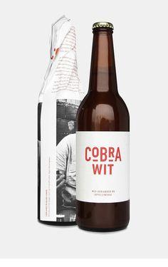 Cobra Wit Beer   #packaging #bottledesign #beer