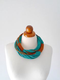 Tribal necklace African necklace chunky necklace by PlexisArt
