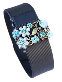 Fitbit Charge HR jewelry Fitbit Charge / Charge HR/ Flex activity tracker band bling - BLUE
