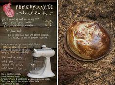 Pomegranate Challah... seems simple + delish,