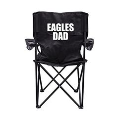 Eagles Dad Black Folding Camping Chair with Carry Bag >>> You can get more details by clicking on the image.(This is an Amazon affiliate link)