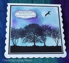 Card by Lindsay Mason using Darkroom Door Trees Rubber Stamp Set. http://www.darkroomdoor.com/rubber-stamp-sets/rubber-stamp-set-trees
