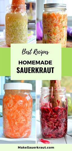 A palette of sauerkraut recipes to please any palate. If you know how to make sauerkraut, your family will love recipes flavored with carrots and ginger, beets and caraway, or a classic dill. Many relish my Baseball Sauerkraut recipes, rich in onions and perfect for topping a hot dog.