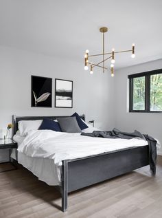 The Bedroom Is One Of Our Favorite Spaces For Hanging A Pair Of Cool Wall  Art. Loving This Modern Minimalist Black U0026 White U0027Art In Blacku0027 Poster Duo.