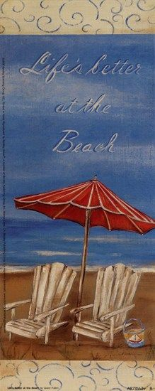 Life's Better At The Beach by Grace Pullen art print
