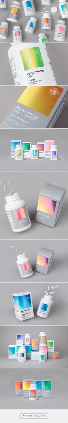 Performance Lab supplements packaging design by Robot Food - https://www.packagingoftheworld.com/2018/07/performance-lab.html