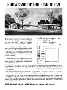 Parade Plan Book - Houston Homebuilders Assn - 5102 Jackwood, Houston, TX - Architects: Edward Langwith & Robert King (Wilson, Morris & Crain) | Flickr - Photo Sharing!