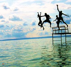 Jumping into the water-Balaton-Hungary Places Around The World, Around The Worlds, Mahal Kita, Young Wild Free, I Love The Beach, Budapest Hungary, Live In The Now, Summer Vibes, Summer 3