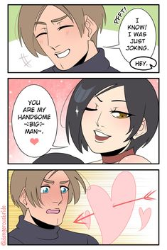 Resident Evil Anime, Resident Evil Girl, Cute Comics, Funny Comics, Devil May Cry 4, Eren And Mikasa, Ship Drawing, Gaming Memes, Laughing So Hard
