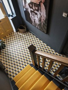House Stairs, Carpet Stairs, Narrow Hallway Decorating, Staircase Design, Modern Staircase, Tiled Hallway, Interior Architecture, Interior Design, Staircase Makeover